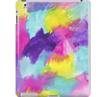 Watercolors Pink Blue Purple Yellow iPad Case/Skin
