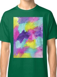 Watercolors Pink Blue Purple Yellow Classic T-Shirt