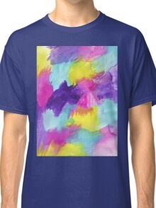 Watercolors Pink Blue Purple Yellow Classic T-Shirt