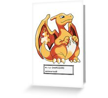 Wild Charizard Appeared! Greeting Card