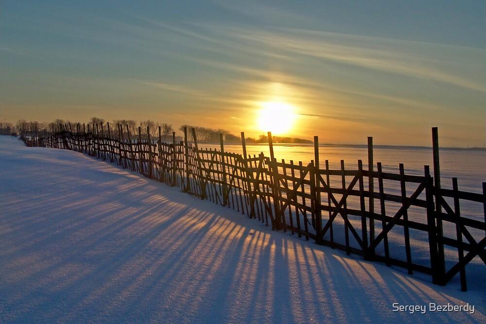 Winter Sunset by Sergey Bezberdy
