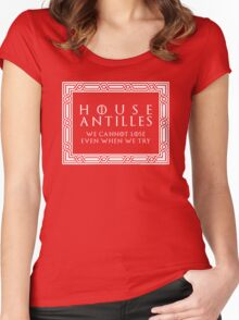 House Antilles (white text) Women's Fitted Scoop T-Shirt