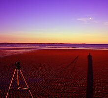 """""""Shadows of my tripod and me"""" by Husky"""
