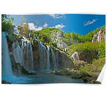 Waterfalls Plitvice National Park Poster