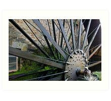 Old Mill Wheel 1 Art Print