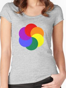 Colorful Circles Women's Fitted Scoop T-Shirt