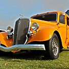 Orange 1933 Ford Model 40 Deluxe Fordor by Ferenghi