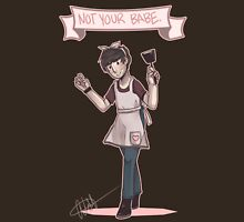 Not Your Babe-Cooking Ian Hecox Womens Fitted T-Shirt
