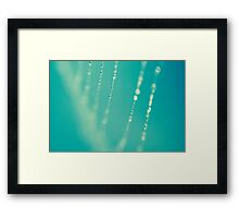 ~ dew drops are delicious ~ Framed Print