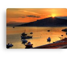 Sunrise over Nissaki Canvas Print