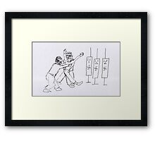 Arrested and not a danger to self or others Framed Print