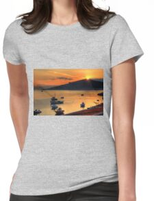 Sunrise over Nissaki Womens Fitted T-Shirt