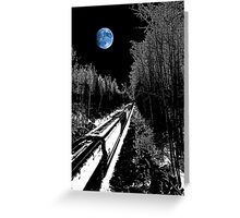 into the night blues Greeting Card