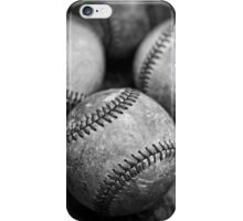 Old Baseballs in Black and White iPhone Case/Skin