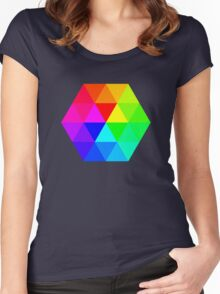 Colorful Triangles Women's Fitted Scoop T-Shirt