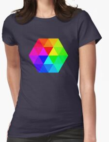 Colorful Triangles Womens Fitted T-Shirt