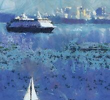 Seattle Ferry by Heather Haderly