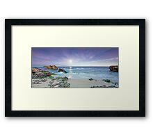 Dawn Moonscape Framed Print