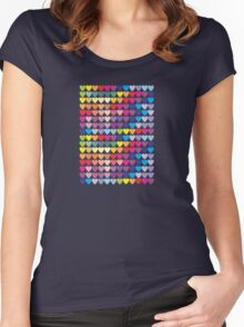 Colorful Hearts Women's Fitted Scoop T-Shirt