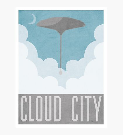 Cloud City Star Wars Poster Photographic Print