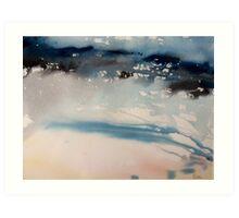 Wet sand, incoming waves Art Print