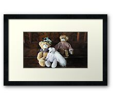 Auntie, Cousin and Baby Teddies. Framed Print