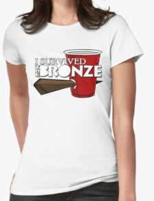 I Survived the Bronze Womens Fitted T-Shirt