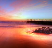 Reflected Light - South Curl Curl, NSW by Malcolm Katon