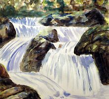 wonderful Watercolour Waterfall by Jim Phillips