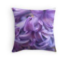 Fluttering Hyacinth Throw Pillow
