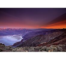 Looking Towards Furnace Creek, Death Valley Photographic Print