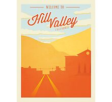 Back to the Future - Welcome To Hill Valley  Photographic Print