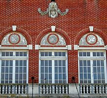 Details Of Windows of the  Saenger Theater by WildestArt