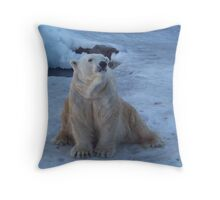 Waiting for Lunch Patiently... Throw Pillow