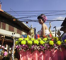 Colourful Floral Float in Chiang Mai Festival, Nth. Thailand. by Mywildscapepics