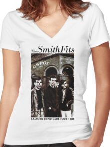 CSPOT - The SmithFits - Salford Fiend Club Tour Women's Fitted V-Neck T-Shirt