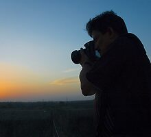 The Photographer and the Sunset by prakhar