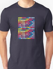 Colorful Hearts Unisex T-Shirt