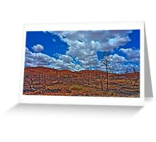 Charred +HDR Greeting Card