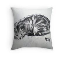 Brick the Cat Throw Pillow