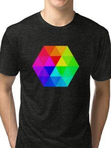 Colorful Triangles Tri-blend T-Shirt