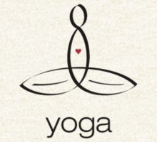 """Meditator with """"Yoga"""" in simple text. by Mindful-Designs"""