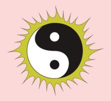 Yin Yang Design in front of the Sun One Piece - Short Sleeve