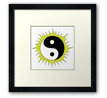 Yin Yang Design in front of the Sun Framed Print