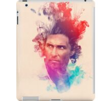 Matthew McConaughey Ink Watercolor Splash Portrait True Detective iPad Case/Skin