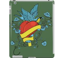 Oldschool heart and bird iPad Case/Skin