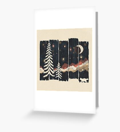 Starry Night in the Mountains... Greeting Card