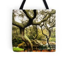 The Park Bench under the Oaks Tote Bag