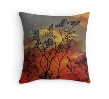 Against a Fiery Sky Throw Pillow