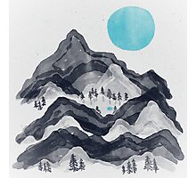 The Sun in Moon Lake... Photographic Print